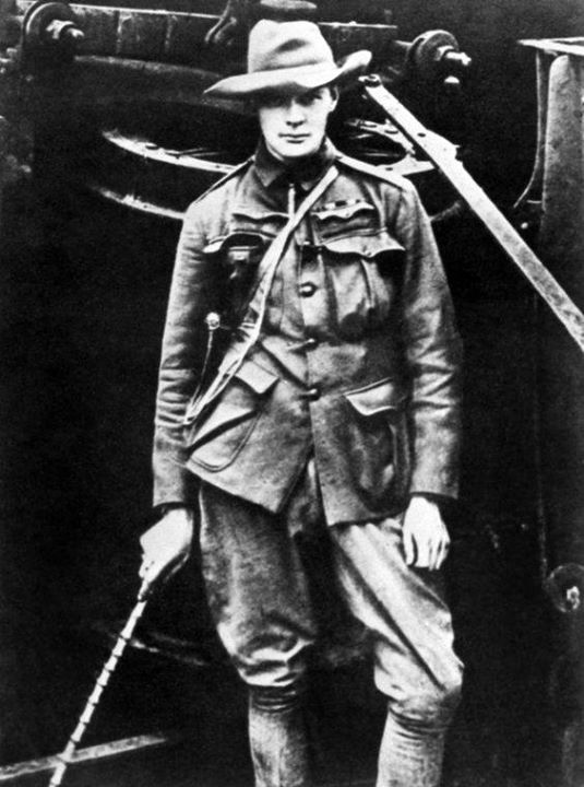 Winston Churchill as a war correspondent for the Morning Post during the Boer War in South Africa 1899