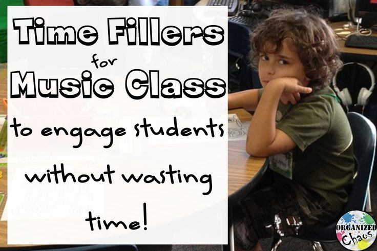 Organized Chaos: Teacher Tuesday: time fillers for elementary music. Fill those extra 5 minutes with something engaging and musical instead of something meaningless and boring. Keep these ideas on hand so you're ready for the unexpected!