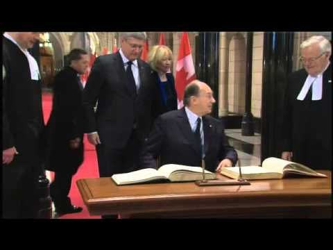HH the Aga Khan welcomed to Parliament of Canada