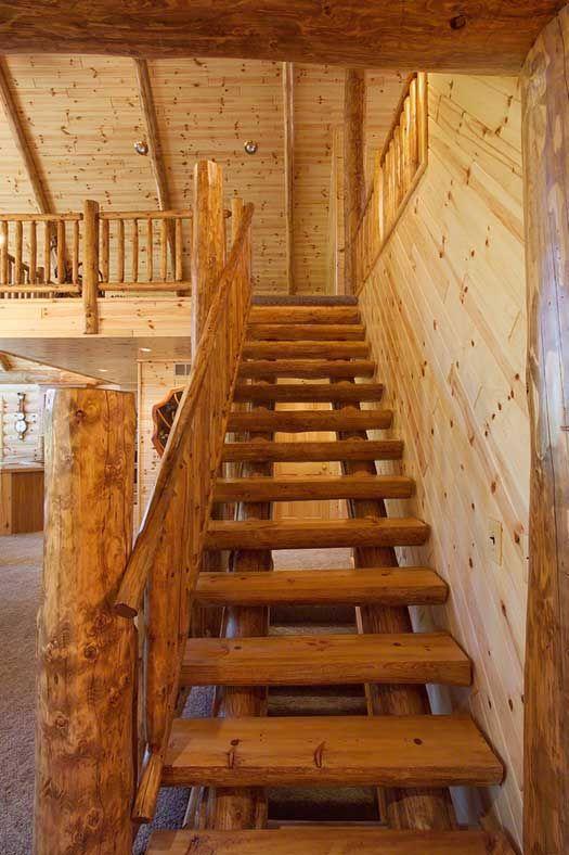 Best Rustic Log Stairs See Rustic Wood Railing Http 400 x 300