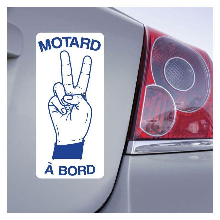 Sticker Motard à Bord ZoneStickers autocollant