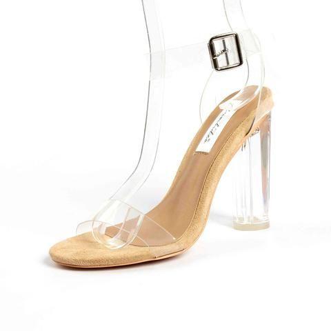 [EBay] Rumbidzo 2017 Pvc Size 35-43 Jelly Sandals Open Toe High Heels Women Transparent Perspex Slippers Thick Heel Clear Sandalias