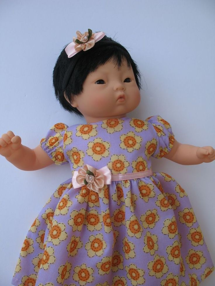 """Clothes for Corolle Mon Premier Calin 12"""" Baby Doll Handmade Dress and Headband"""