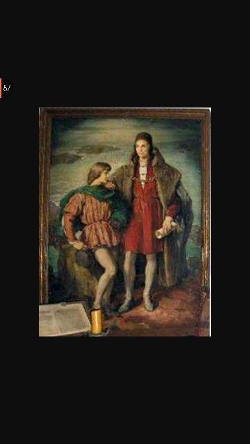 Estos son los dos hijos de Cristobal Colon que se llaman, Diego Colon y Hernando COlon.