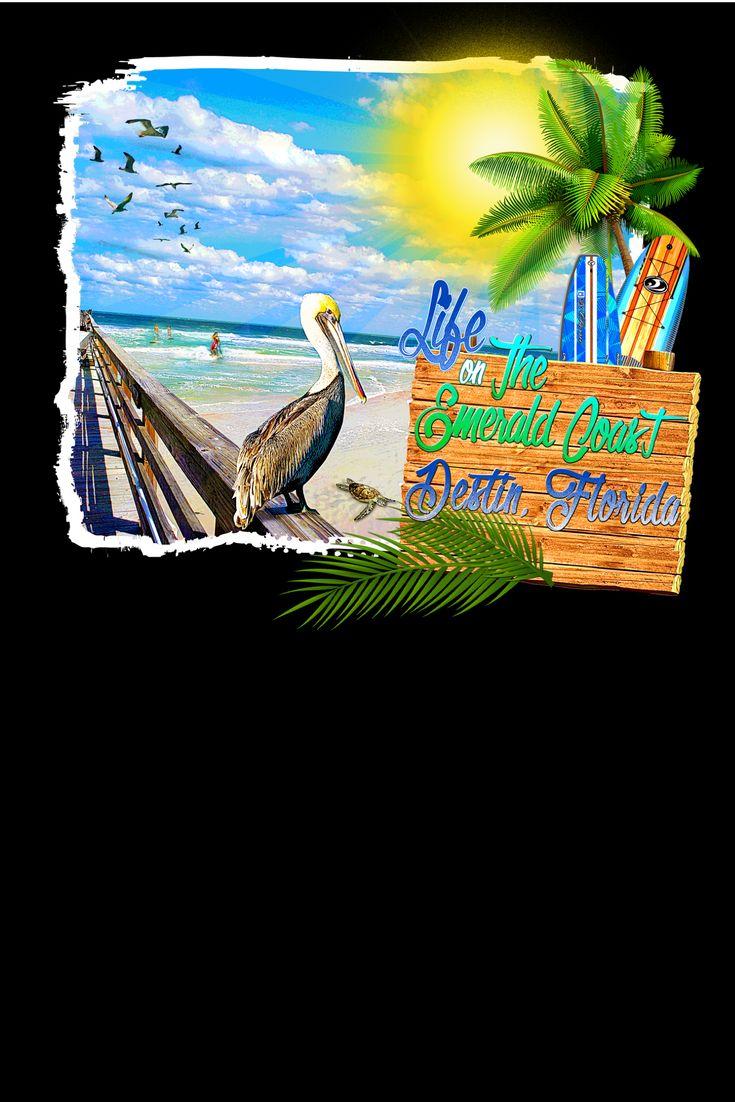 13 besten Destin Florida Life on The Emerald Coast T-Shirts Bilder ...