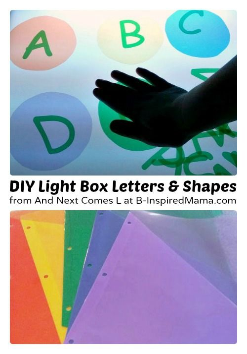 Making Kids Light Box Manipulatives [Contributed by And Next Comes L] - #kids #preschool #earlylearning