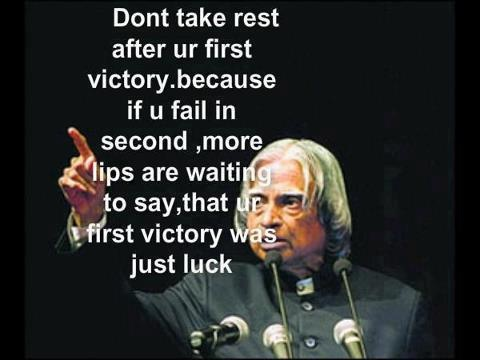 excellent quotation by abdul kalam former president of