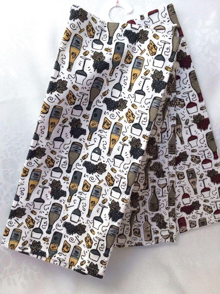 NWT CYNTHIA ROWLEY 3 PC SET KITCHEN DISH TOWELS Holiday Motif NEW # CynthiaRowley