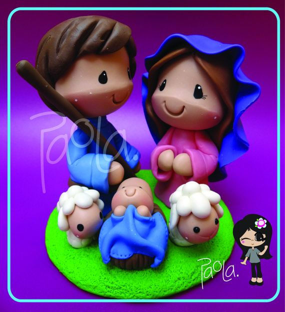 Nativity Set Christmas Decoration Holy Family by gavo on Etsy