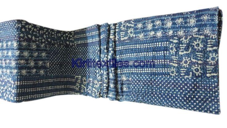 Sanganeri Wooden Dabu Printed Fabric Made Vintage Style Patchwork Gudri Elegant Hand Block Printed Bedspread Throw From Jaipur Rajasthan India