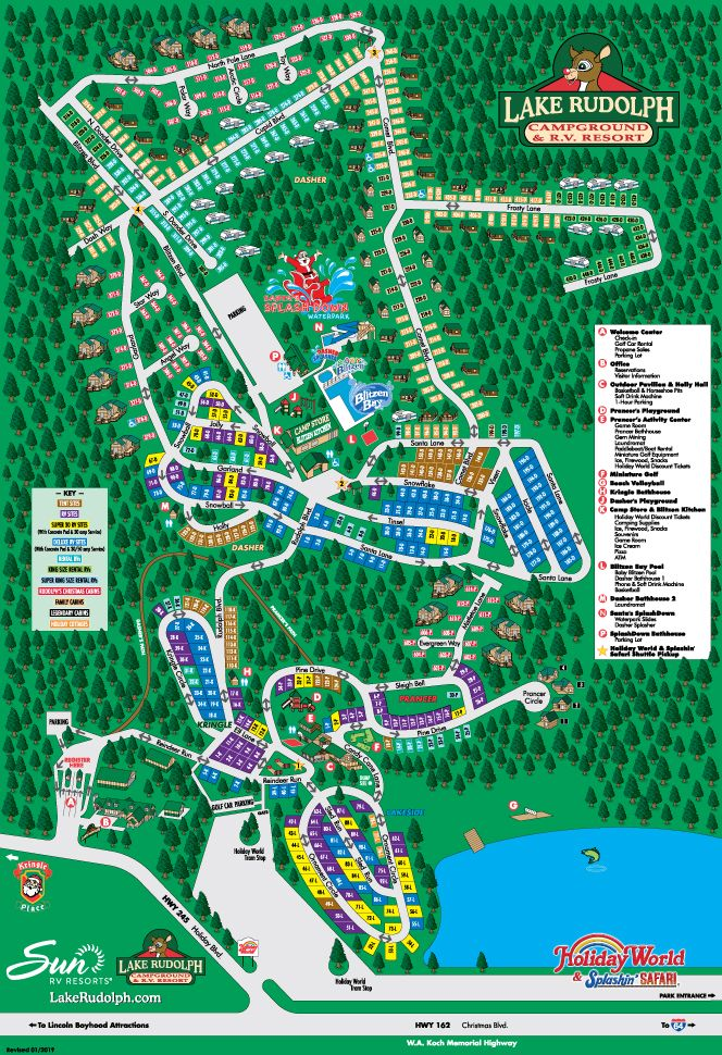 Campground Map Lake Rudolph Campground Rv Resort Campground Lake Rudolph Safari Holidays
