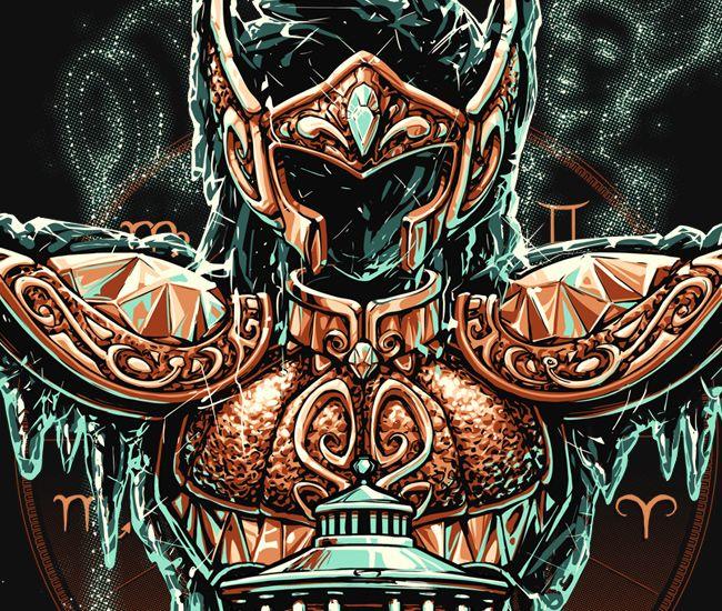 O mestre aquariano chega com toda imponência congelante que o cavaleiro do Zero Absoluto deve ter  na arte dourada de Rodrigo Gafa [Brasil]. Eleve o cosmo do seu coração ao máximo com as Camisetas, Canecas, Posters e Mousepads de Aquário.