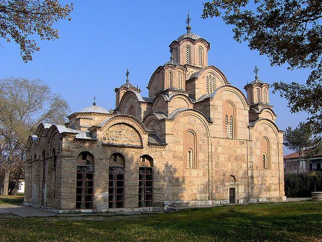 https://flic.kr/p/8iBz8 | Gracanica monastery | Gracanica monastery in Kosovo, built by Serbian King Milutin in 1321. The architectural composition of Gracanica represents the peak of Serbian architecture in the spirit of Byzantine tradition. Unfortunately the rich Gracanica treasury was lost in fires between 1379 and 1383. The present treasury stores a number of valuable icons from the 16th, 17th and 18th centuries, as well as several significant manuscripts and liturgical objects.  Today…