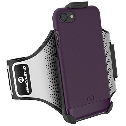 "iPhone 7 Running ARMBAND & CASE Set, Encased (2016 SlimShield Edition) Tough Cover w/ SECURE-FIT Workout Band (Apple iPhone 7 4.7"") (Royal Purple) >>> See this great product."