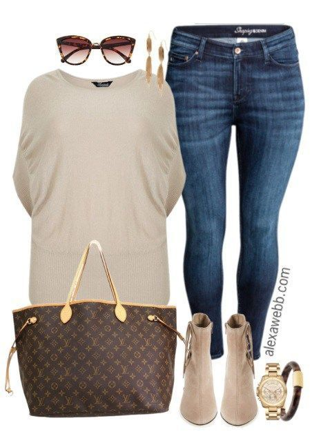 Plus Size Fall Transition Outfit - Plus Size Fashion for Women - alexawebb.com