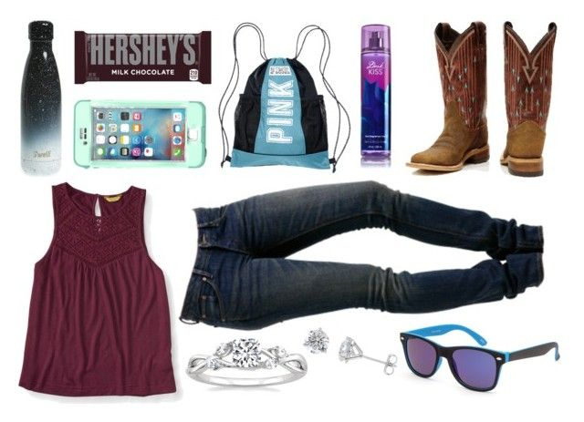 """Happy Happy Happy :D"" by im-a-jeans-and-boots-kinda-girl on Polyvore featuring S'well, Hershey's, LifeProof, Victoria's Secret, Aéropostale, WeSC and Blue Crown"