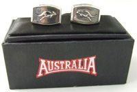 Australia Brand Cufflinks  Silver Metal - Kangaroo made in China (boxed)  SPECIAL - $12.00 or any 3 for $33.00 Code: CUFF-AUS03   Email for further enquiries