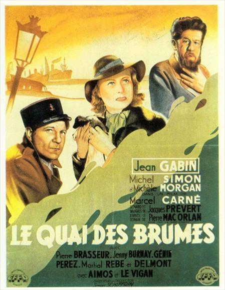 Quai des brûmes, avec Jean Gabin, Michèle Morgan