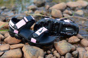 9f7526543cf7 Nike Air VaporMax Pink Black Women s Summer Slides Sandals Flip Flops Nike  Air Vapormax