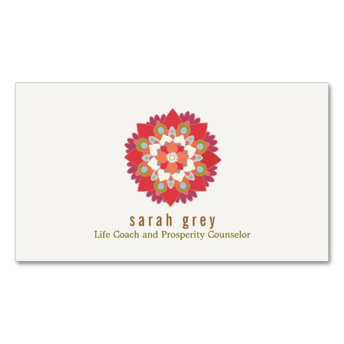 1477 best life coach business cards images on pinterest business red lotus flower health wellness elegant floral business card colourmoves