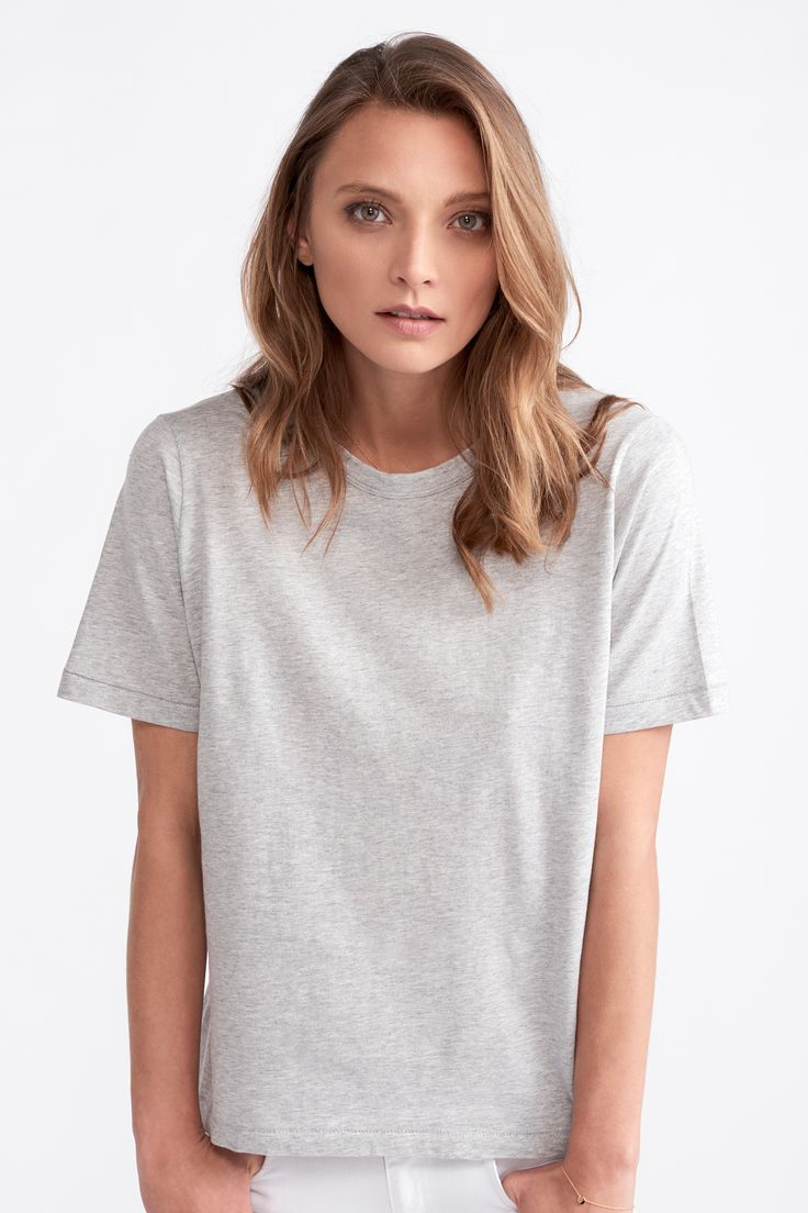 The Classic Tee by bon label. Autumn 17 collection. organic. ethical fashion. made in australia. inspired by paris. good for womankind.   grey, t-shirt, essentials, organic, cotton, parisian style   SHOP bonlabel.com.au