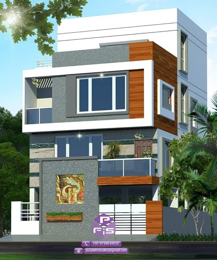 Pin By Dwarkadhish Co On Elevation 3 House Designs Exterior