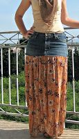 Tutorial - How to Make a Jean Gypsy Skirt - gypsy, jean, skirt, tutorial