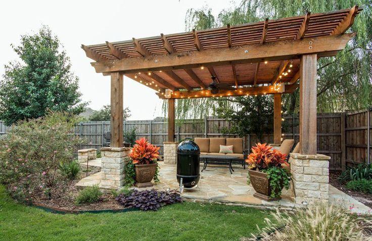 50 Beautiful Pergola Ideas (Design Pictures)   Backyard ... on Covered Pergola Ideas  id=63994