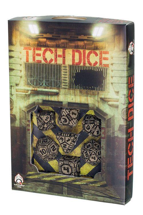 Beige & black Tech Dice set