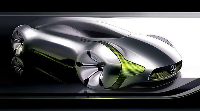 "Sketch of the Mercedes-Benz ""Concept Digital Core""."