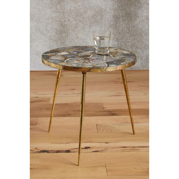 Agate End Table ($498) ❤ Liked On Polyvore Featuring Home, Furniture, Tables