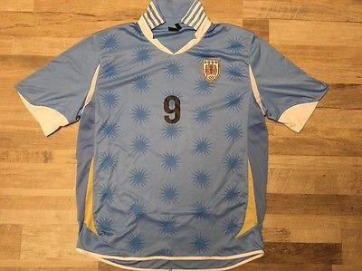 URUGUAY SUAREZ #9  Men's soccer Jersey Large, Embroidered Patch Size L | eBay