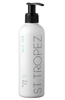 st tropez tanning lotion- I mix a little with regular body butter and slather it all over for a year round glow :)