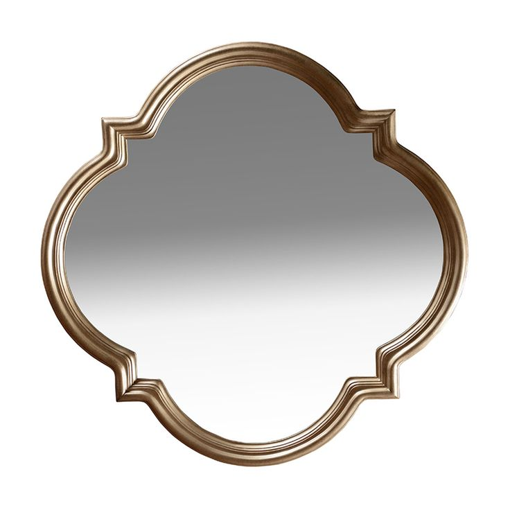 Milan Shaped Mirror - White Bronze - Max Sparrow