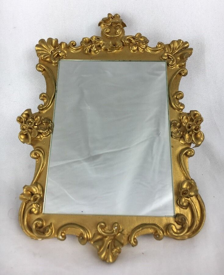 Vintage Spielwaren Dollhouse Miniature Gold Mirror Boutique Szalasi | eBay