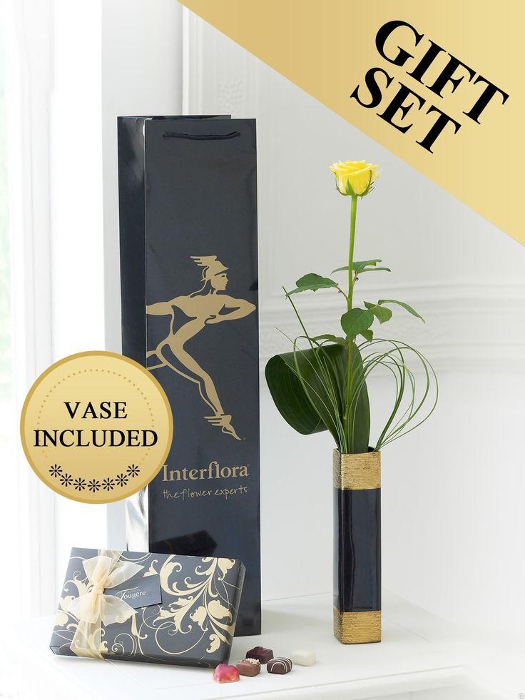Single Yellow Rose Gift Set €28.95