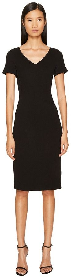 Escada Sport Dorondi Short Sleeve V-Neck Dress Women's Dress