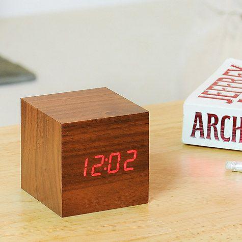 Buy Gingko Click Clock Cube LED Alarm Clock Online at johnlewis.com
