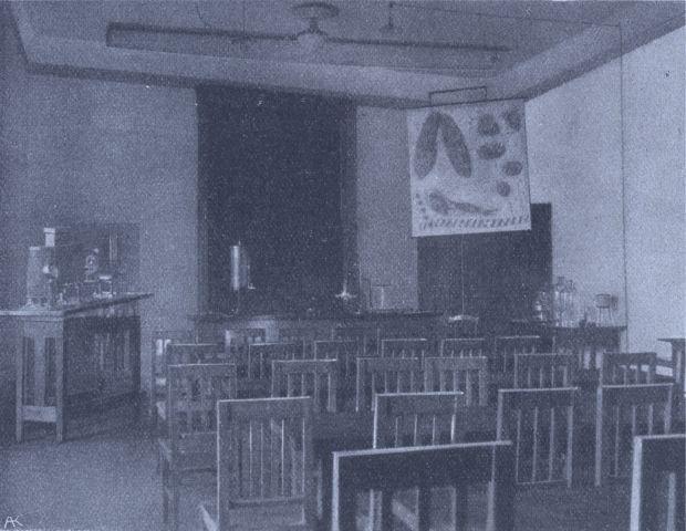 SZIG - A biológia laboratórium délelőtt az előadások helyszíne (1913/14)