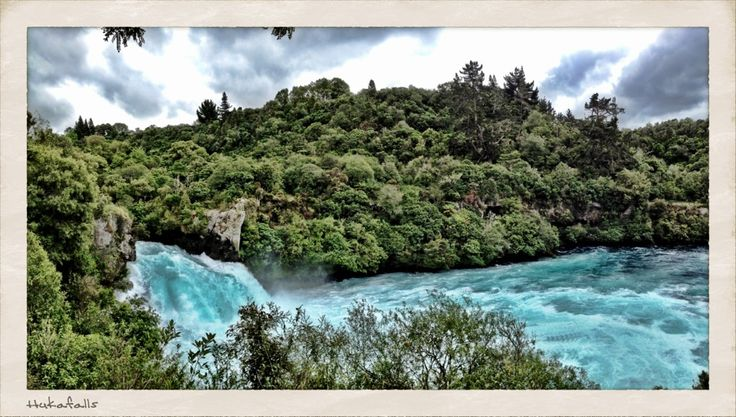 Huka Falls in Wairakei, Waikato- go jetboat riding too!