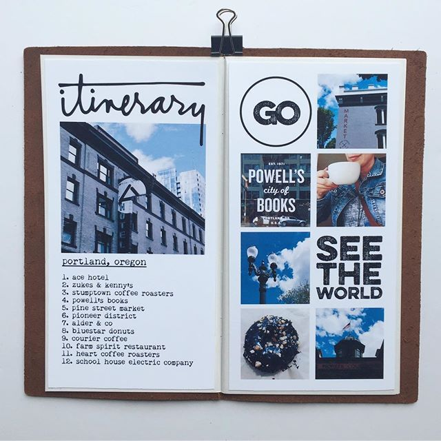 Simple list of my itinerary in #pdx. I love the versatility of the @aliedwardsdesigninc digital kit and I can see myself using it again and again on travel layouts. #cheersjessTN #aecreativeteam #memorykeeping #scrapbooking #travelersnotebook