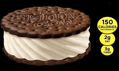 Vanilla Skinny Cow Ice Cream Sandwich