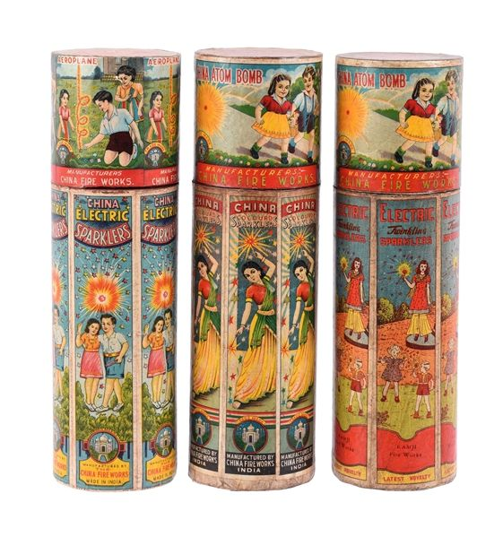 Early Sparklers Fireworks Containers.