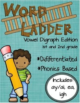 These word ladders were created with struggling first and second grade students in mind This word ladder bundle includes the following activities word ladder  AY AI patternword ladder  EA patternword ladder  IGH pattern  Students must analyze the clues in order to determine the next word on ladder