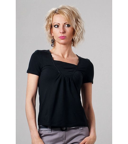 FashionSupreme - Tricou în negru - Haine de damă - Bluze - Lookat - magnetism pentru femei. Haine şi accesorii de marcă. Haine de designer.