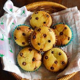 Choco Chip Muffins - No eggs no butter recipe!