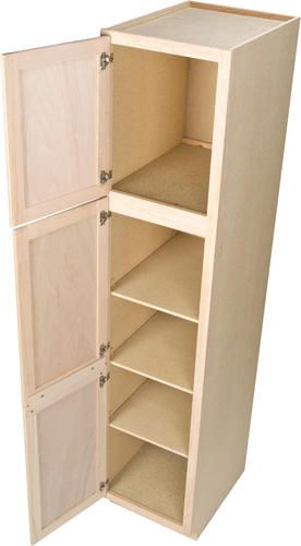 Quality One 18 X 84 Unfinished Oak Utility Cabinet