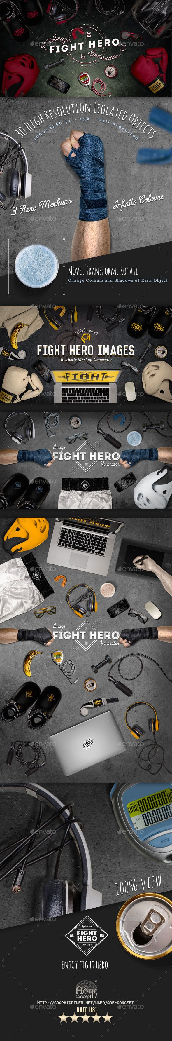 Fight Sport Hero Image Generator #design Download: http://graphicriver.net/item/fight-sport-hero-image-generator/12147639?ref=ksioks