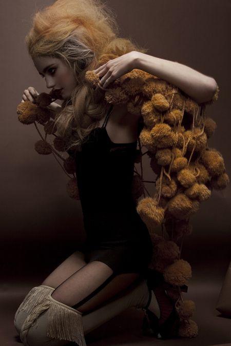 "Pom Pom Shawl-Una Hlin Kristjansdottir's Hair Raising ""Royal Extreme"" Clothing Line"