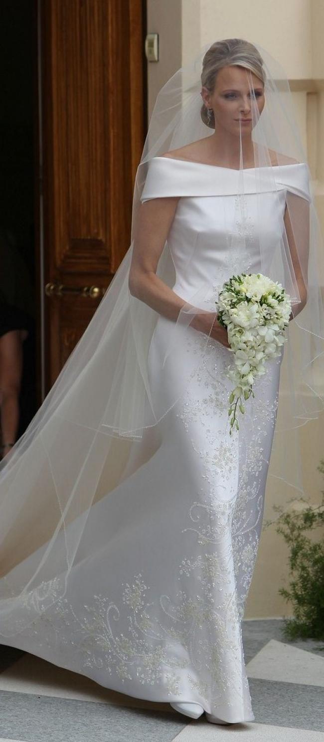 Robe de mariée de Charlene de Wittstock
